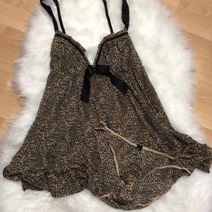 Victoria's Secret Leopard Soft Babydoll Nightie